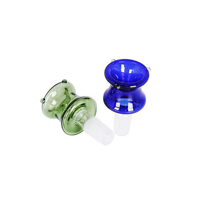 14mm / 18mm Male Glass Slide Bowl Blue / Green Rose Glass Bowl