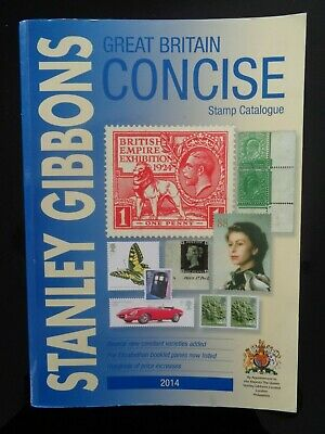 Stanley Gibbons 2014 Great Britain Concise Colour Stamp Catalogue Vgc Rrp£34.95