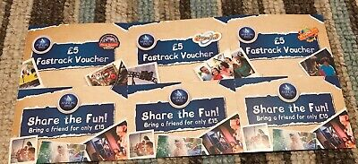 X3 Merlin Share The Fun Theme Park & Fast Track Vouchers Inc Alton Towers