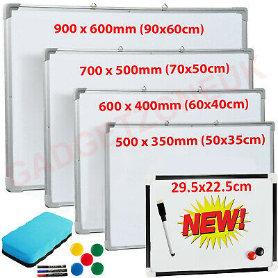 Large Magnetic Whiteboard Dry Wipe Drawing Board&Eraser Office Schol Memo Notice