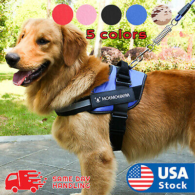 Harness No Pull Tactical Heavy Duty K9 large Vest Dog Collar Harness