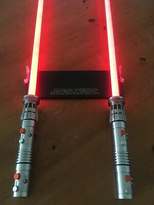 Darth Maul FULL DOUBLE BLADED FORCE FX LIGHTSABER Master Replicas Star Wars