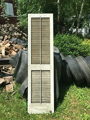 Vtg 1800's Old  Wooden Window Shutter Architectural Salvage 54in x 14.5in