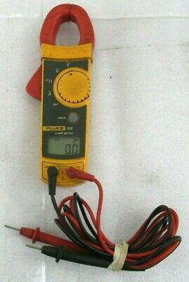 Fluke 322 Digital AC Clamp Meter Multimeter  W/ Red and Black Test Leads