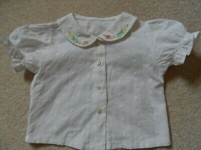 Adorable Vintage 90's Baby Girl Cotton Summer Blouse 3-6 months