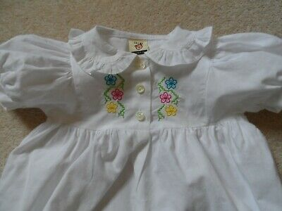 Adorable Vintage 90's Baby Girl Summer Dress Romper suit Height 68cm or 14.5lb