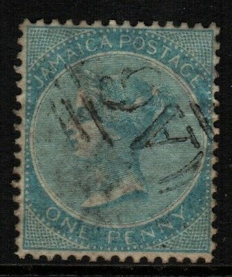 ~ Jamaica, Used, 1D, Pale Greenish Blue, Nice Centering