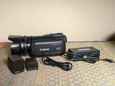 CANON LEGRIA HF G10 HD Camcorder 1080p with Batteries, Hood, charger and cable