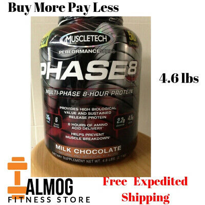 MuscleTech Phase8 Protein Powder, Sustained Release 8-Hour Protein Chocolate