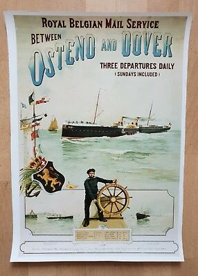 Poster Royal Belgian Mail Service between Ostende and Dover