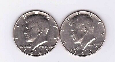 1982-P & D Kennedy Half Dollars. Two very, very nice Kennedy Half Dollars.