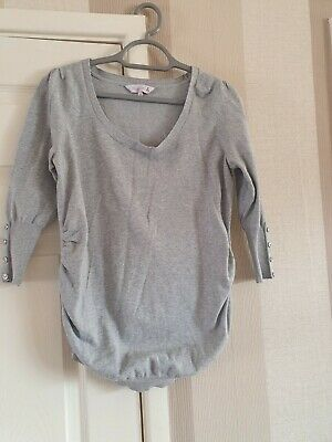 Grey Maternity Jumper Red Herring Size 12