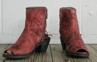 efc872531c5db Double D Ranch by Lane Boots Size 7.5 Seally Fringe Women's Western Booties