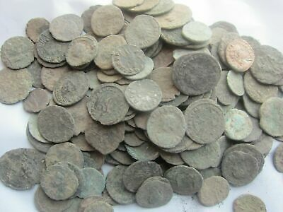 1-KILO  ANCIENT DIRTY UNCLEANED ROMAN COINS APROX 150BC-450AD-Fun Hobby