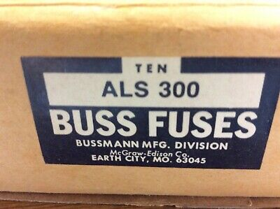 COOPER BUSSMAN  ALS 300  fuse.   Lot of 4 new in box