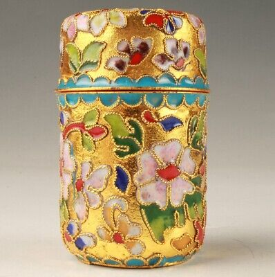 Precious Chinese Cloisonne Handmade Toothpick Box Old Collection Decoration