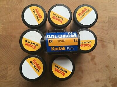 8 x expired Kodak Elite Chrome 400 35mm slide film