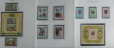 Lot of British Commonwealth 1981 Royal Wedding Issue MNH-------