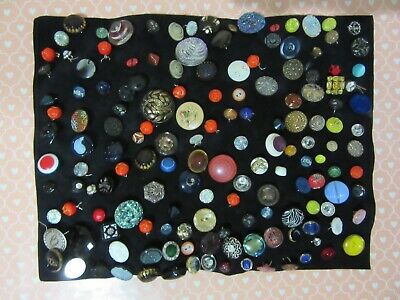 Lot of 100+ Antique Victorian Art Deco Glass Rhinestone Doll Childrens BUTTONS