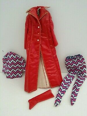 Vintage 1960s Barbie Francie Doll Outfit Long on Leather #1769 clothes