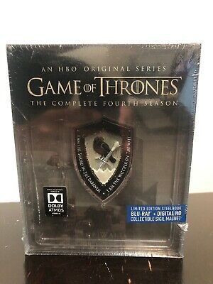 Game of Thrones Season 4 - Steelbook Blu-Ray + Digital With Collectable Magnet