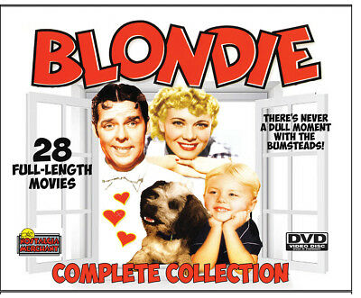 BLONDIE and DAGWOOD FILM COLLECTION - 28 Movies