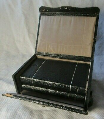 1883 Pair of Leather Bound HYMNS ANCIENT & MODERN Pocket Books in Leather Case