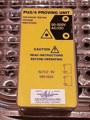 Proving Unit For Voltage Testers/Indicators Pu2/4