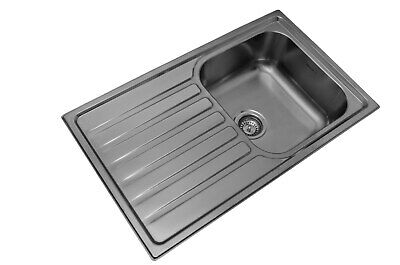 Mercer Wentworth Kitchen Sink Single Bowl with Right Hand Drainer - WH101RB
