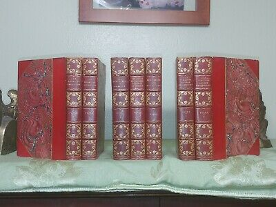 John Fiske - American History - 7 volume set - Leather Bound - 1902