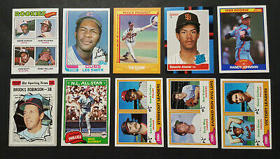 Baseball Hall of Fame: 50 Card Lot: 1970-1990, No Dupes, Andre Dawson (RC), more