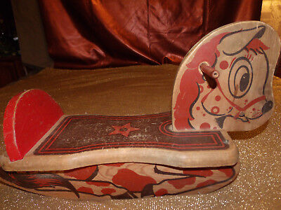 Vintage 1960's ? Small Wooden Childs Rocking Horse NICE Condition