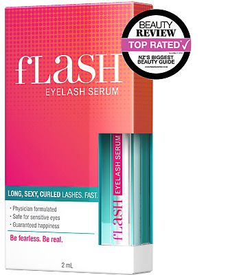 fLash Eyelash Serum Growth Conditioner Long Thick Curly Lashes Beauty Extensions