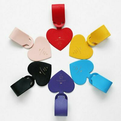 Cute Luggage Tag Love Heart Shape Travel Suitcase ID Address Label Baggage Tag