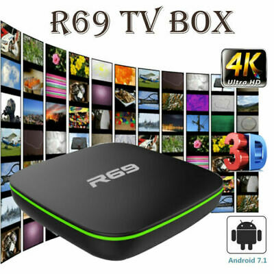 CA R69 Smart TV BOX Android 7.1 Quad Core WIFI 4K 3D Movies 1+8GB Media Player