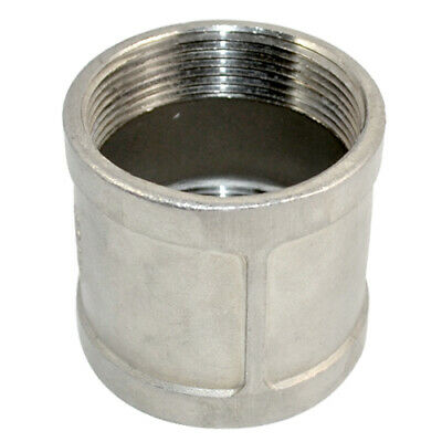 """2"""" Female x 2"""" NPT Female Couple Stainless Steel 304 Threaded Pipe Fitting"""