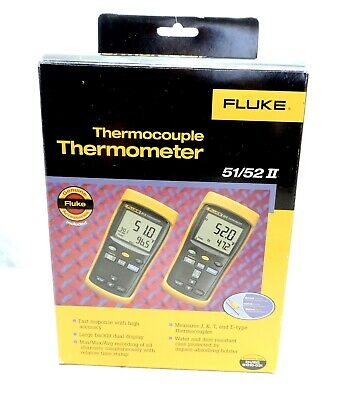 FLUKE 51 II Digital Thermocouple Thermometer Genuine 674686 Fluke-51-2 60HZ