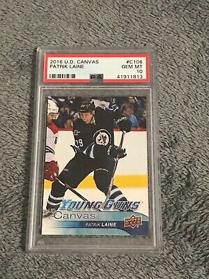 Patrik Laine Rc 2016 Ud Series One Hockey Young Guns Canvas Psa Gem Mt 10 Jets