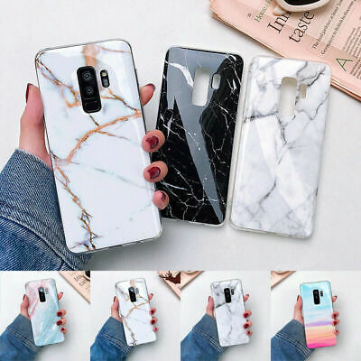 Marble Pattern Soft Silicone Cover Case For Samsung Galaxy S10+ S9 S8/7 Note 9/8