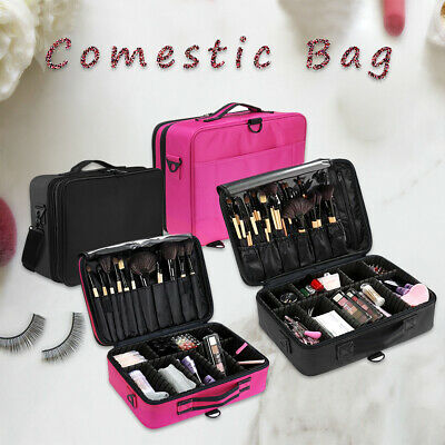 Professional Makeup Bag Portable Cosmetic Case Travel Carry Storage Box 2 Size
