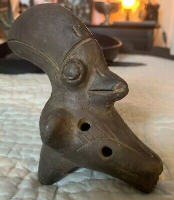 Rare Pre-Columbian Terracotta sculpture statue pottery Mayan Aztec Mexico Music