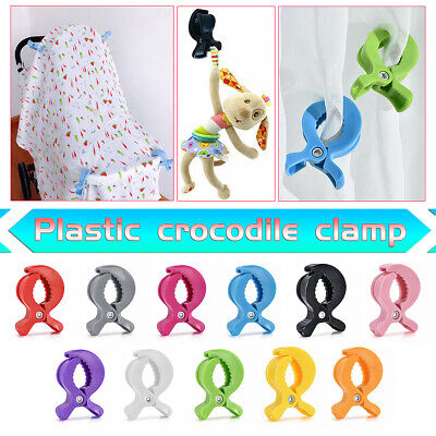 DIY Strong Baby Car Seat Toy Lamp Pram Stroller Peg To Hook Cover Blanket Clips