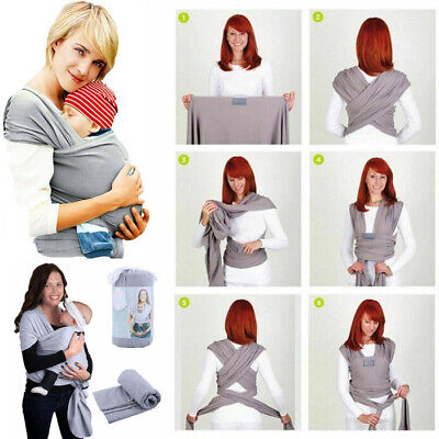 Baby Sling Stretchy Wrap Carrier Holder Pouch Breastfeeding Infant Newborn Birth