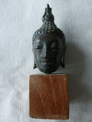Bronze Buddha Head 17th C