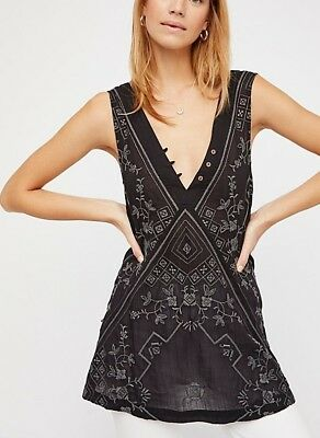 166dc66898153 192810 New Intimately Free People Sweetest Shifty Slip Embroidered Mini  Dress L