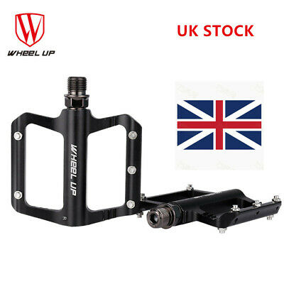 2PCS Aluminum Alloy CNC Bearing Bike Flat Platform MTB BMX Bicycle Pedals UK