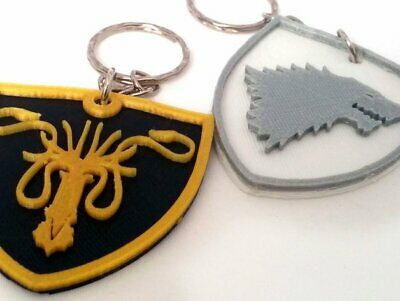 Game Of Thrones Houses keychain , A song of ice and fire keychains , House Stark