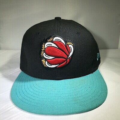 Vancouver Grizzlies New Era 59FIFTY Fitted Hat Size 7 1/8 Black Teal