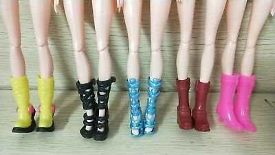 Lot/5 Pairs Brand New Barbie Doll Shoes High-heeled Shoes Birthday Gift