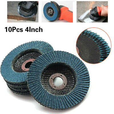 Angle Grinder Wheels Grit 80 10Pcs 4Inches Zirconia Sanding Flap Discs Practical
